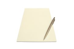 Notepad_1 Foto de Stock Royalty Free