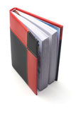 Notepad. In the red-black cover Stock Photo