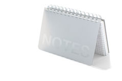 Notepad. A notepad isolated on a white background Royalty Free Stock Photo