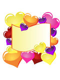 Notepad. Illustration of heart balloons around a notepad Royalty Free Stock Photo