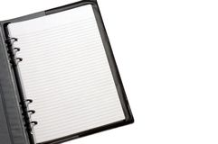 Notepad. A notepad on white background Royalty Free Stock Photo