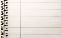 Notepad. An isolated notepad or schoolpad Royalty Free Stock Photo