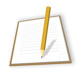 The notepad Royalty Free Stock Photography