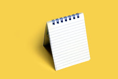 Notepad. Spiral bound note pad with texture background Stock Photo