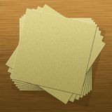 Notepad. Blank notepad pages on wood texture vector illustration