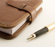 Notepad. Notebook and pen Royalty Free Stock Photo