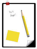 Notepad And A Pencil Stock Photo