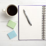 Notepad And Coffee Cup Royalty Free Stock Photography