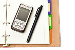 Notepad And Phone Royalty Free Stock Image