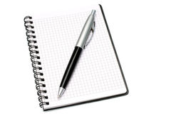 Notepad with ball pen Royalty Free Stock Image