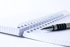 Notepad with ballpoint pen Royalty Free Stock Image
