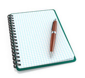 Notepad with a ballpoint pen Stock Photo