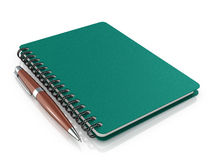 Notepad with a ballpoint pen Royalty Free Stock Image