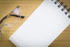 Notepad with blank page Royalty Free Stock Image