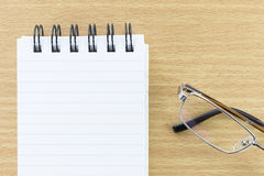 Notepad with blank page Stock Photography