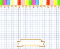 Notepad blank page vector illustration. Royalty Free Stock Photo