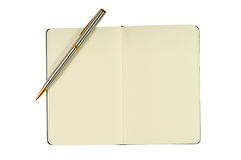 Notepad With Blank Pages and Pen Royalty Free Stock Photo