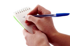 Notepad; Blank with Pen Royalty Free Stock Image
