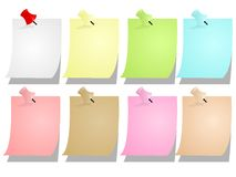 Notepad blank sheets, cdr vector  Royalty Free Stock Photos