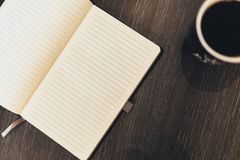 Notepad Book Coffee Royalty Free Stock Photos