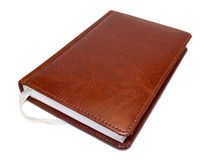 Notepad. Brown notepad isolated on white background Royalty Free Stock Images
