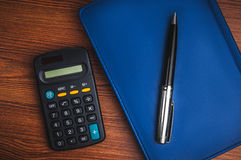 Notepad with calculator Royalty Free Stock Image