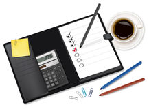 Notepad with check-boxes. Vector. Royalty Free Stock Photography