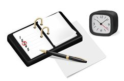 Notepad with checkboxes and pen. Vector Royalty Free Stock Photography