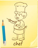 A notepad with a chef Royalty Free Stock Photography