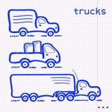 Notepad ciężarówki set Fotografia Stock