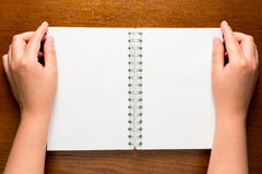 Notepad with clean sheets Stock Photos