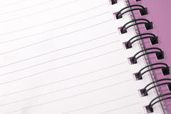 Notepad closeup Royalty Free Stock Photography