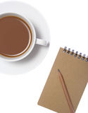 Notepad and Coffee Stock Photography