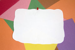 Notepad on colored background stock photo