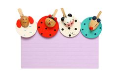 Notepad with colorful clips Royalty Free Stock Images