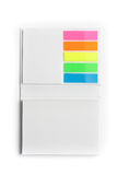 Notepad with colorful sticky notes Stock Photo