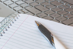 Notepad on Computer Royalty Free Stock Image