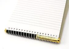 notepad długopis. Fotografia Stock