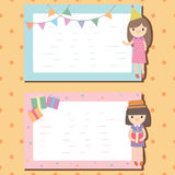 Notepad decorated in party theme Royalty Free Stock Image