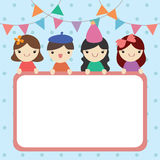 Notepad decorated in party theme Stock Images