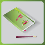 Notepad.The design of the notebook of recipes. The design of the notebook of recipes. Proper nutrition. Vector image Royalty Free Stock Image