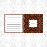 Notepad design with orange geometric pattern Royalty Free Stock Photo