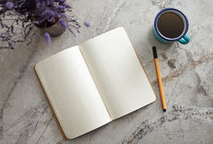 Notepad on the Desk Royalty Free Stock Photos