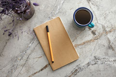Notepad on the Desk Stock Photography