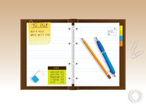 Notepad diary Royalty Free Stock Photography