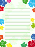 Notepad empty blank with floral frame Stock Images