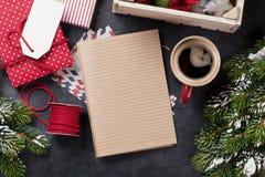 Notepad för julbokstav Royaltyfria Bilder
