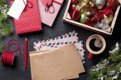 Notepad för julbokstav Arkivbild