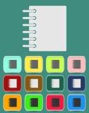 Notepad för kalender för cirkellimbindning - vektorsymbol Royaltyfria Foton