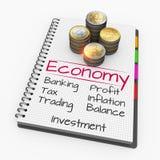 Notepad financial concept Stock Photos